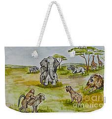 Happy Africa Weekender Tote Bag