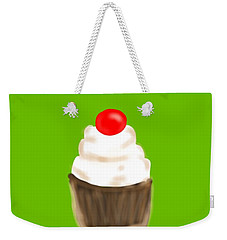 Weekender Tote Bag featuring the digital art Happy Bday W A Cherry On Top by Christine Fournier