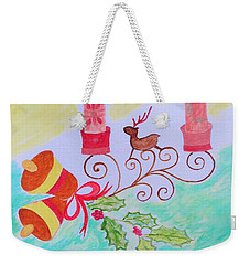 Happy Christmas Weekender Tote Bag by Sonali Gangane