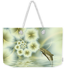 Happy Dolphin In A Surreal World Weekender Tote Bag by Gabiw Art