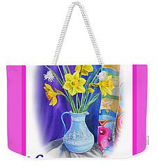 Happy Easter Weekender Tote Bag by Irina Sztukowski