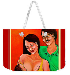 Happy Family Weekender Tote Bag by Cyril Maza