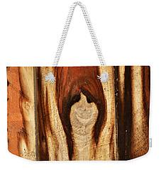 Happy Ghost In Wood Weekender Tote Bag