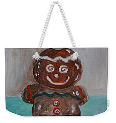 Happy Gingerbread Man Weekender Tote Bag