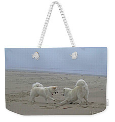 Happy Girls Beach Side Weekender Tote Bag by Fiona Kennard