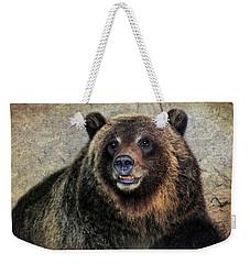 Happy Grizzly Bear Weekender Tote Bag