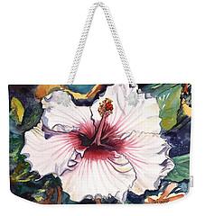 Happy Hawaiian Hibiscus Weekender Tote Bag by Marionette Taboniar
