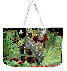 Weekender Tote Bag featuring the photograph Happy Holidays by Jay Milo