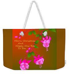 Weekender Tote Bag featuring the digital art Happy Holidays by Latha Gokuldas Panicker
