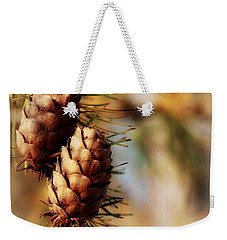 Happy Holidays Weekender Tote Bag by Marija Djedovic