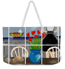 Weekender Tote Bag featuring the digital art Happy Homemaker by Christine Fournier