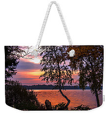 Weekender Tote Bag featuring the photograph Happy Hour  by Cindy Greenstein