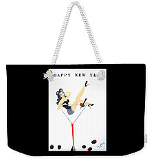 Weekender Tote Bag featuring the painting Happy New Year by Nora Shepley