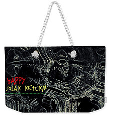Weekender Tote Bag featuring the digital art Happy Solar Return 470 by Cleaster Cotton