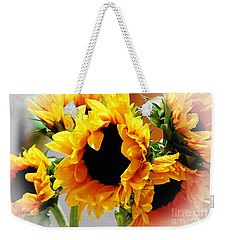 Happy Sunflowers Weekender Tote Bag