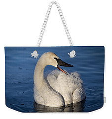 Weekender Tote Bag featuring the photograph Happy Swan by Patti Deters