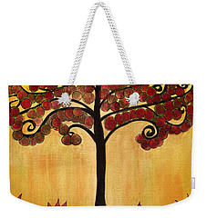 Happy Tree In Red Weekender Tote Bag