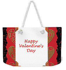 Weekender Tote Bag featuring the photograph Happy Valentines Day Card by Vizual Studio