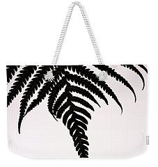 Hapu'u Frond Leaf Silhouette Weekender Tote Bag by Lehua Pekelo-Stearns