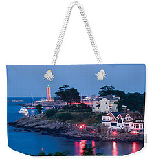 Marblehead Harbor Illumination Weekender Tote Bag by Jeff Folger
