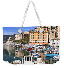 harbor in Camogli - Italy Weekender Tote Bag
