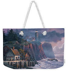 Harbor Light Hideaway Weekender Tote Bag