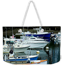 Weekender Tote Bag featuring the photograph Harbor Lineup by Kristen Fox