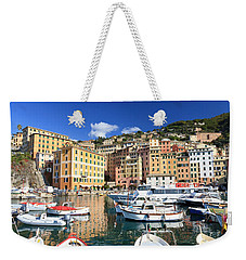 Weekender Tote Bag featuring the photograph Harbor With Fishing Boats by Antonio Scarpi