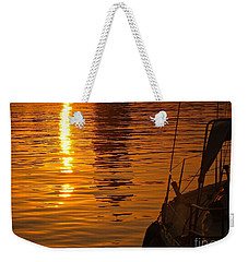 Weekender Tote Bag featuring the photograph Harbour Sunset by Clare Bevan