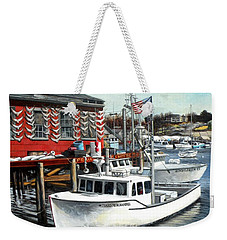 Hard Merchandise Rocky Neck Weekender Tote Bag by Eileen Patten Oliver