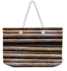 Hard Metal Rebar Pattern Weekender Tote Bag