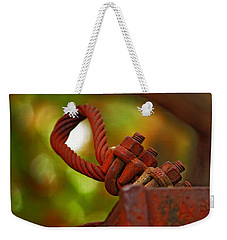 Weekender Tote Bag featuring the photograph Hardware by Rowana Ray