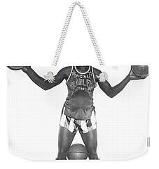 Harlem Globetrotters Player Weekender Tote Bag by Underwood Archives