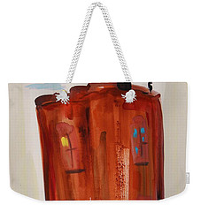 Weekender Tote Bag featuring the painting Harlem Townhouse by Mary Carol Williams