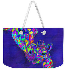 Harlequin Giraffes Weekender Tote Bag by Jane Schnetlage