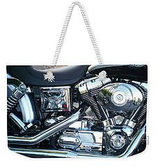 Harley Black And Silver Sideview Weekender Tote Bag