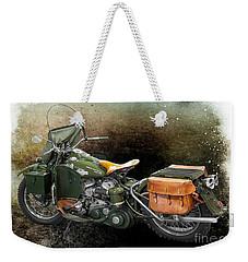 Harley Davidson 1942 Experimental Army Weekender Tote Bag by Barbara McMahon