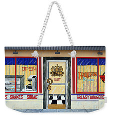 Harley Davidson Cafe Weekender Tote Bag by Fraida Gutovich