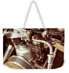 Harley Davidson Closeup Weekender Tote Bag by Carsten Reisinger