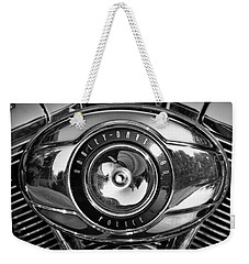Harley-davidson Police B And W Weekender Tote Bag