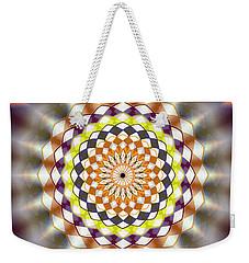 Weekender Tote Bag featuring the drawing Harmonic Sphere Of Energy by Derek Gedney