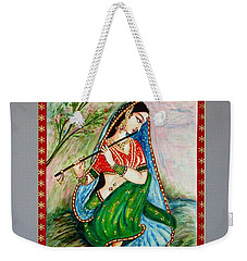 Weekender Tote Bag featuring the painting Harmony by Harsh Malik