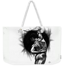 Weekender Tote Bag featuring the drawing Harmony by Paul Davenport