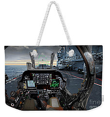Harrier Cockpit Weekender Tote Bag by Paul Fearn