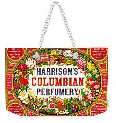 Harrison's Columbian Perfumery 1854 Weekender Tote Bag