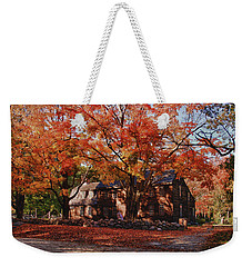 Hartwell Tavern Under Canopy Of Fall Foliage Weekender Tote Bag by Jeff Folger