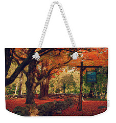 Hartwell Tavern Under Orange Fall Foliage Weekender Tote Bag by Jeff Folger