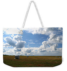 Weekender Tote Bag featuring the photograph Harvest Blue  by Neal Eslinger