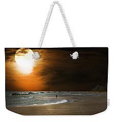 Harvest Moon On The Beach Weekender Tote Bag
