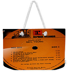 Harvest Neil Young Side 2 Weekender Tote Bag by Marcello Cicchini